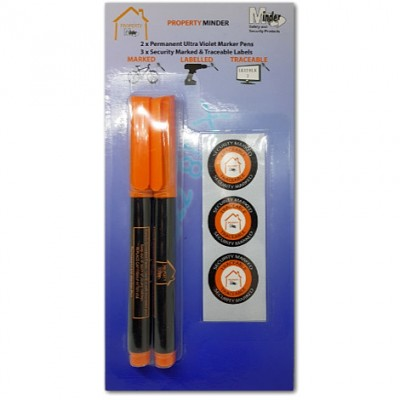 Twin UV Property Marker Pen Pack